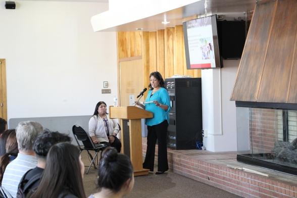 Sandra Hernandez of Tejon Tribe Kern County Presenting
