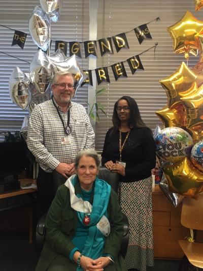 Tom Burke, Nan, and Danielle Hillard-Adams, Executive Assistant to Tom.