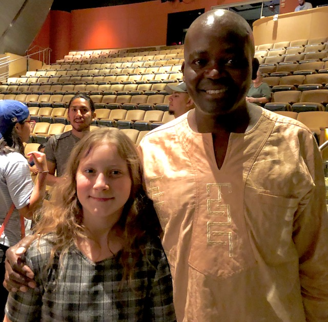 Andrew Kamiti and David Neville's daughter