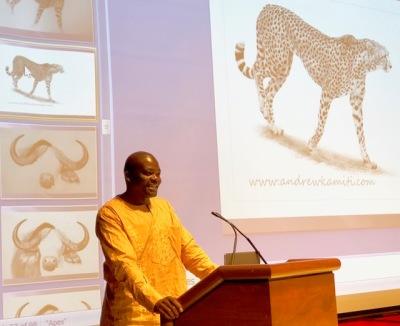 Andrew Kamiti shares his artistic process
