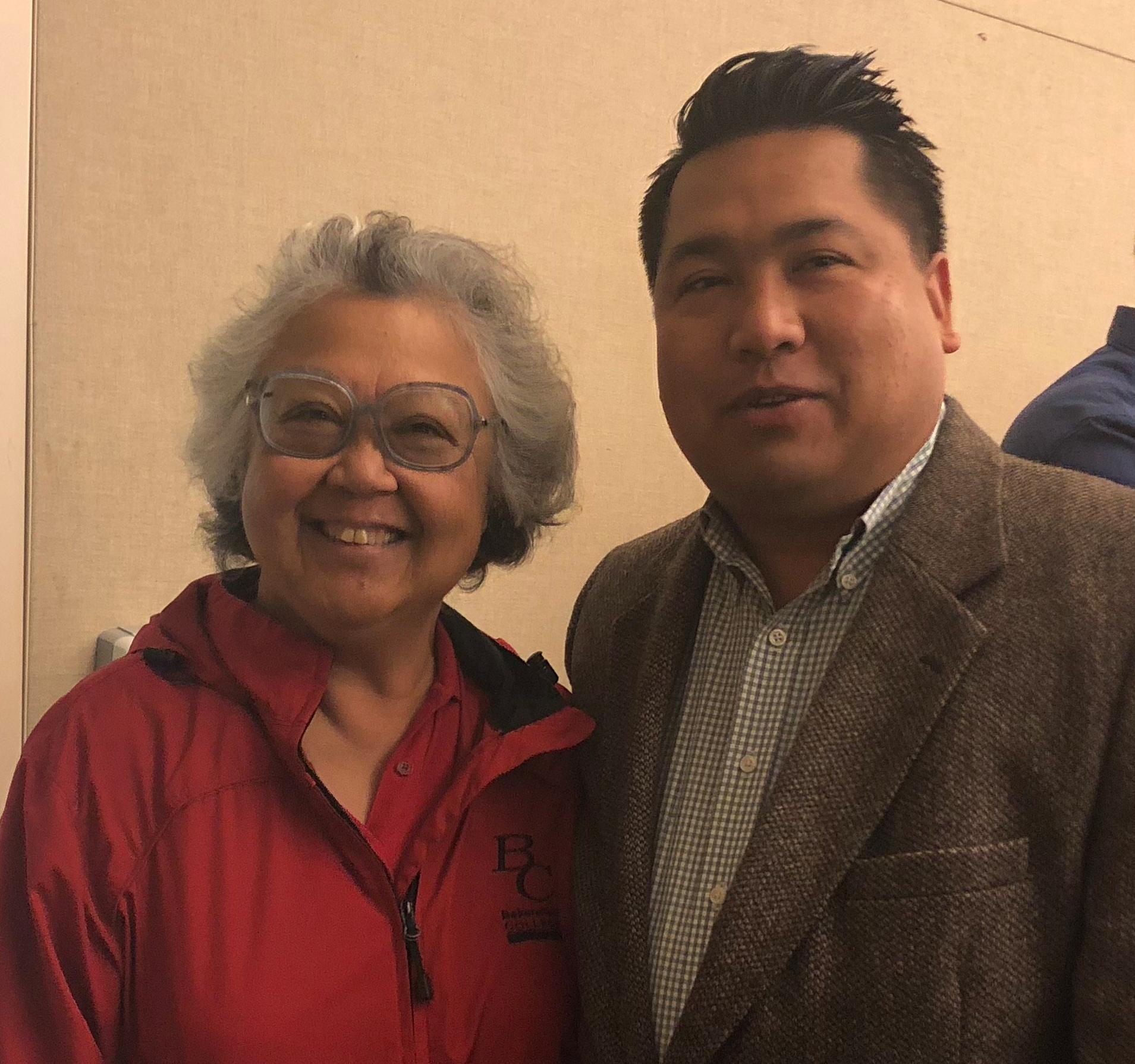 Helen Calip and Trustee Agbalog