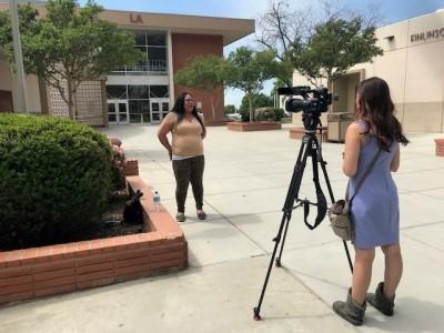 Mataalofa Hubbard with Channel 23 News with Alexa Reye