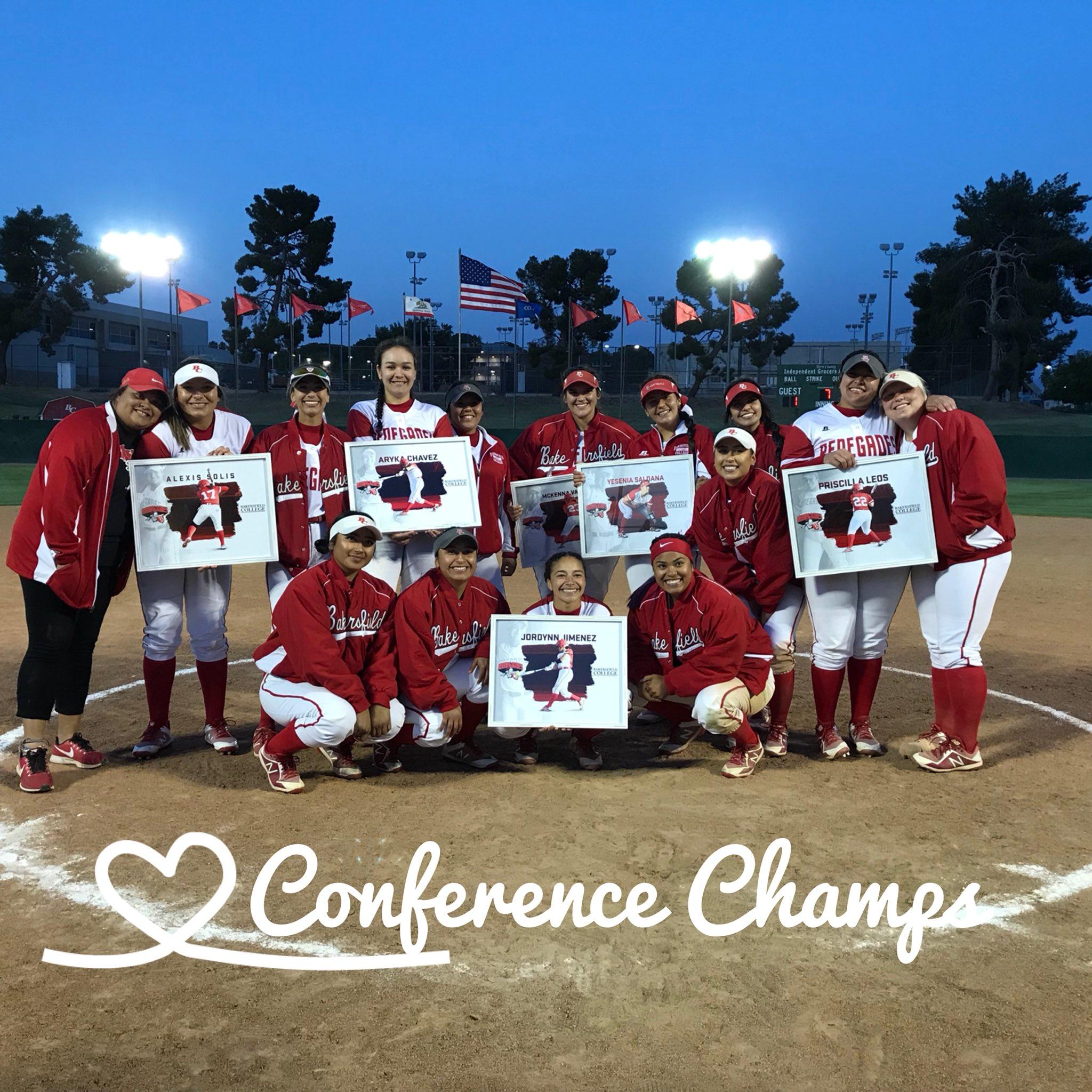 Softball conference champions April 19 2018