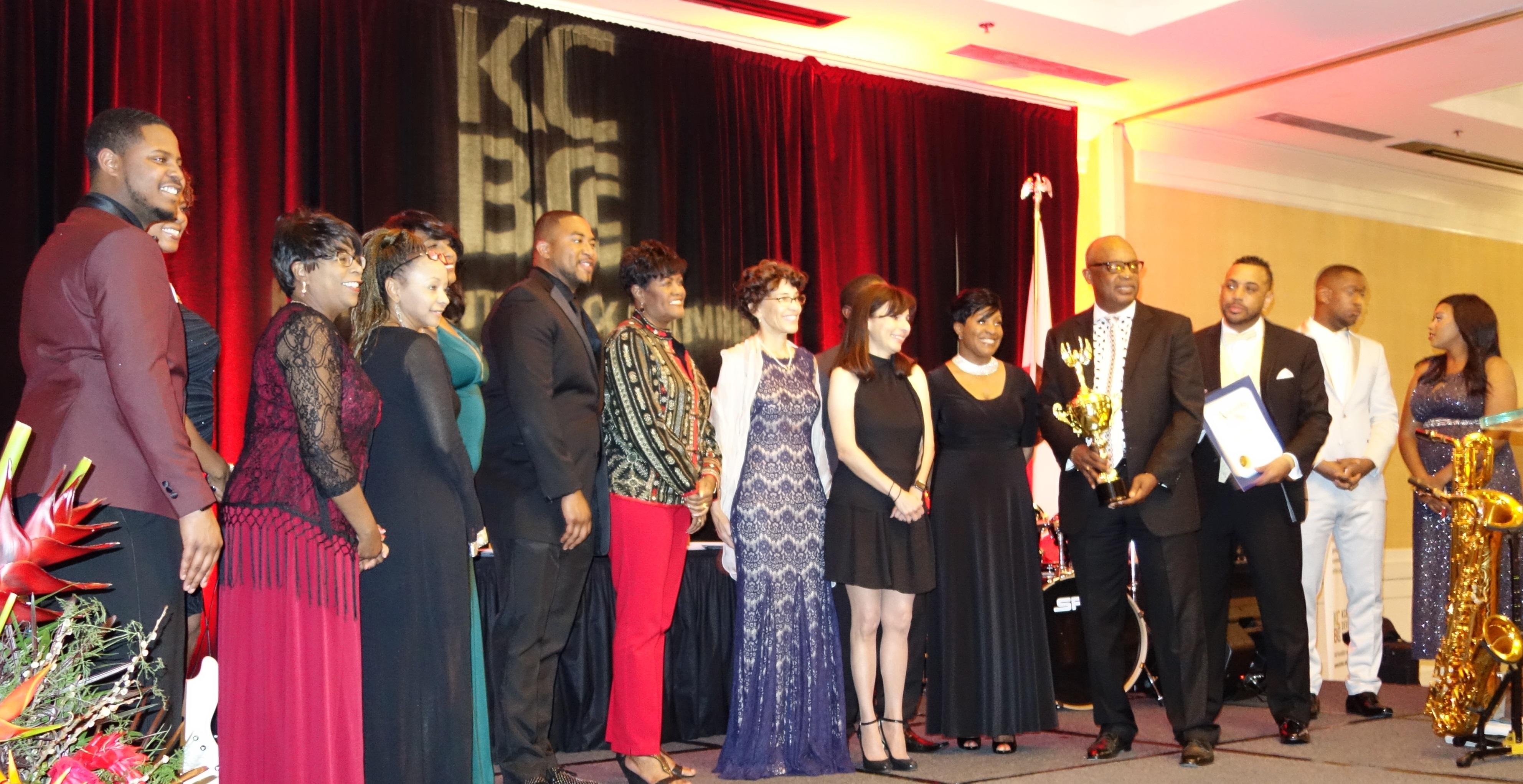 Sonya Christian, Steve Watkin and BC receiving award at KCBCC