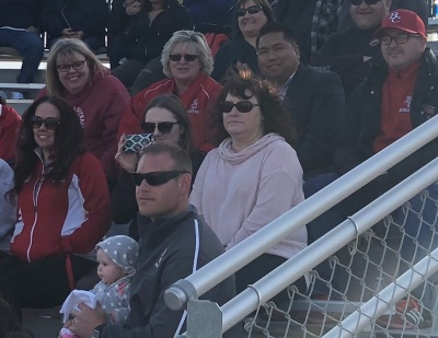 Trustee Romeo Agbalog watching BC softball