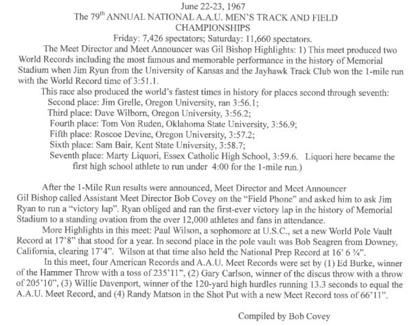 79th Track and Field Championships by Bob Covey