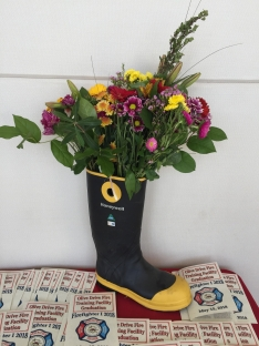 Firefighter Grad - Flowers in boot