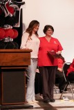 Teri Macedo, Kern Radiology, awarding the Academic Excellence Award to Jeanna Geiger