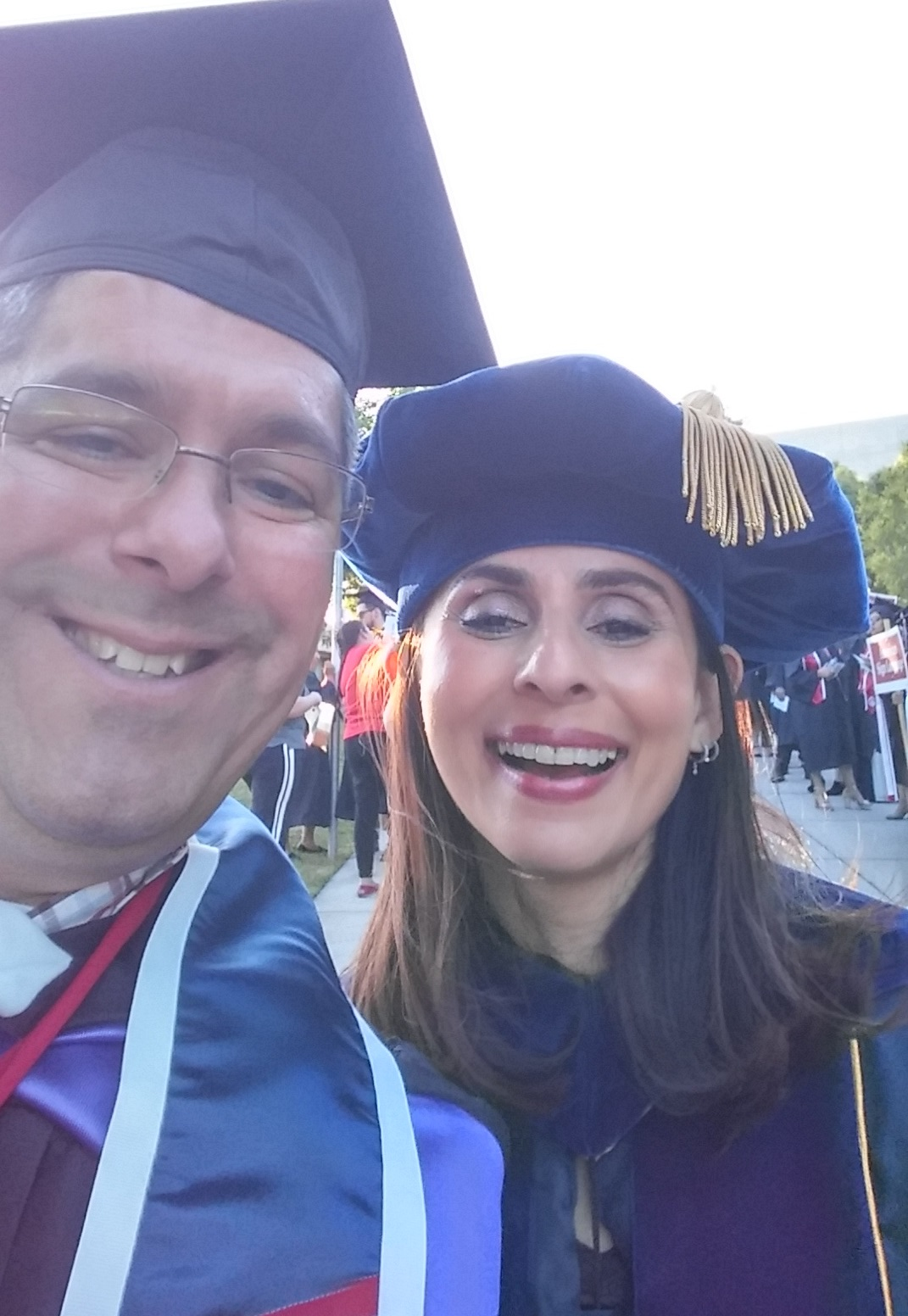 Paul Beckworth, Sonya Christian selfie May 11 2018 Commencement