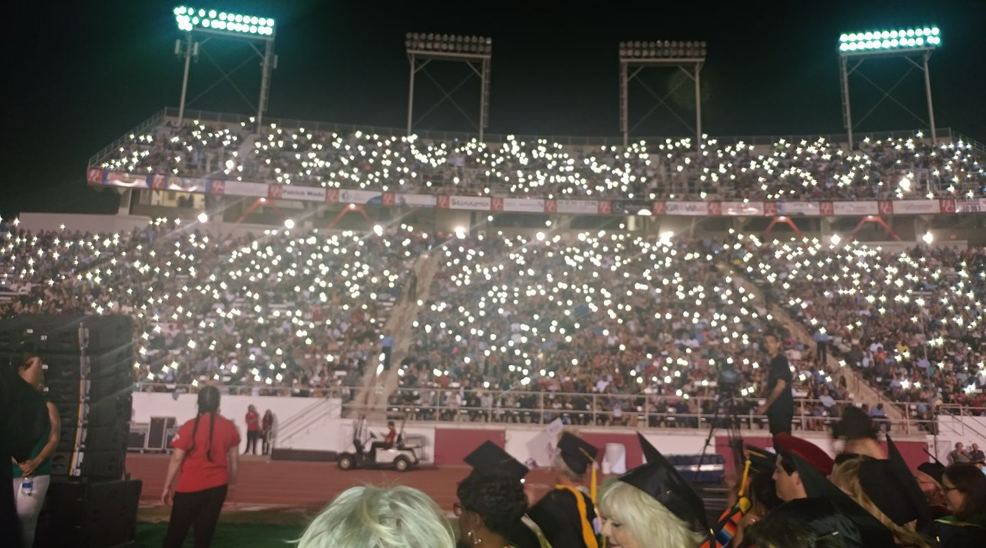 Photo by Robert Boyles - Lighting up the stadium