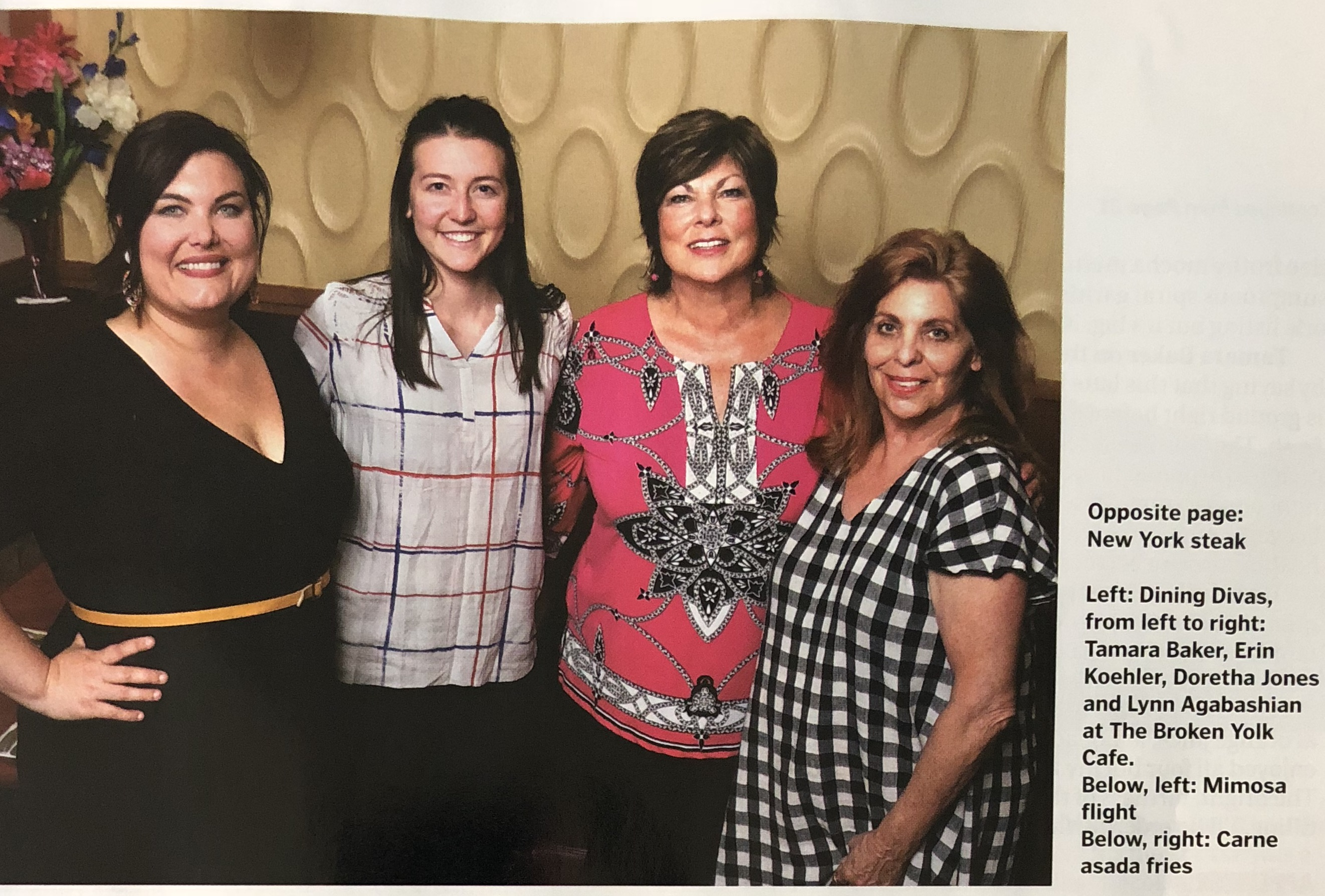 Tamara Baker with Dining Divas on page 41 of the Bakersfield Life Magazine May 26 2018