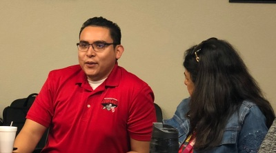 Abel Guzman speaking at Cabinet June 4 2018