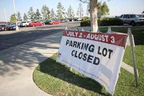 July 2-August 3 Parking Log Closed sign