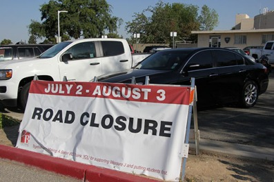 July 2-August 3 Road Closure sign