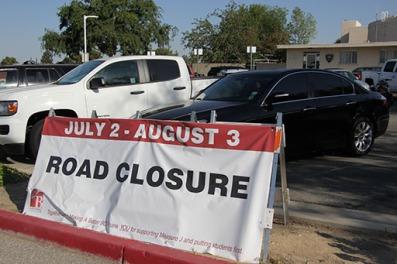 7月2日至8月3日道路封闭标志