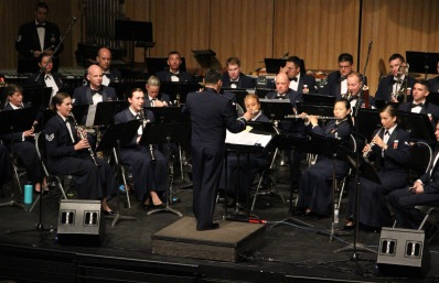Airman First Class Cagdas Donmezer conducting