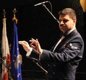 "Airman First Class Cagdas Donmezer conducting ""Slava! A Political Overture"""