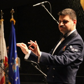 "Airman First Class Cagdas Donmezer conducting ""Slava! A Political Overture"""