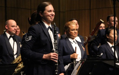 clarinet player smiling