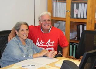 Nan Gomez-Heitzeberg and Senator Vidak
