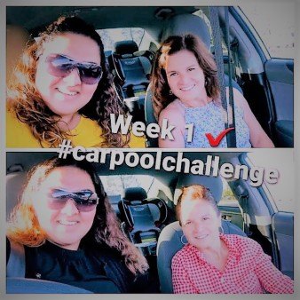 Kalina Hill and Lovey Chahal carpooling to campus.