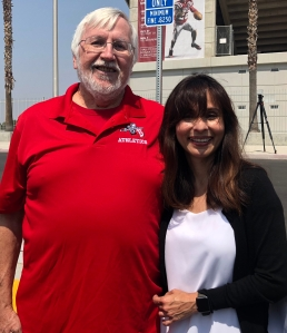 Carl Bryan, the voice of BC football and Sonya Christian
