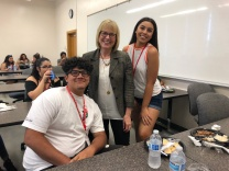 Liz with Students at Summer Bridge