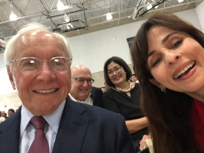Selfie with Stewart Resnick, Sonya Christian with Frank Gornick