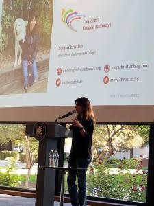 Sonya Christian presenting Sep 14 2018