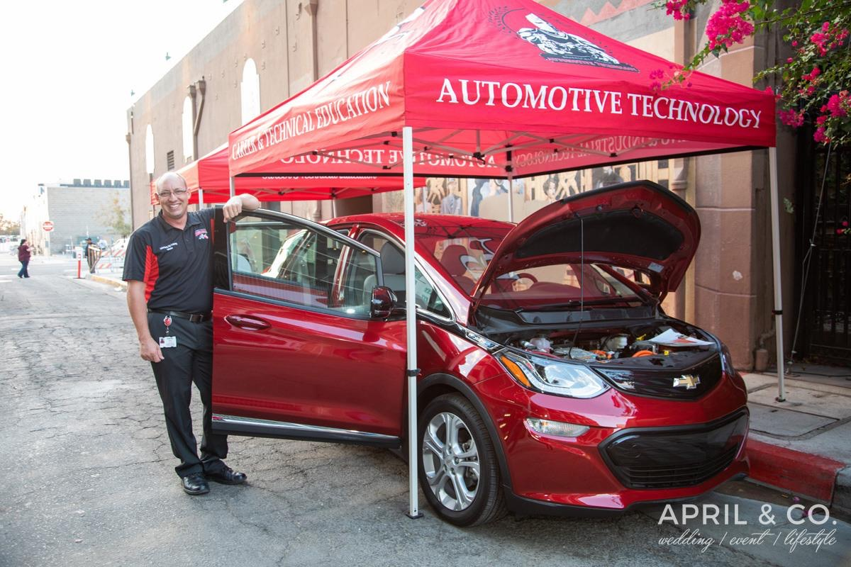 Andrew Haney with BC_s electric car