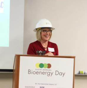 Liz Rozell at Bioenergy Day at BC 2018