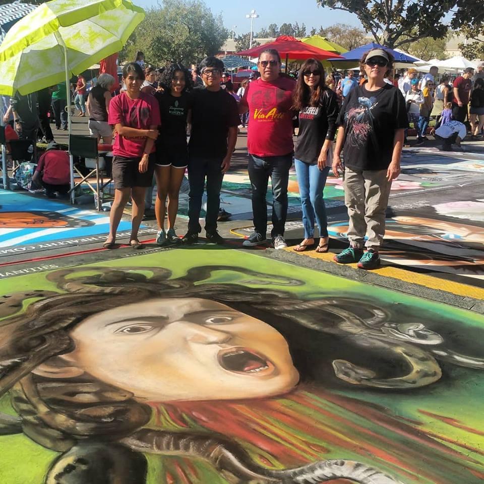 Diego Monterrubio, Sonya Christian and students at Via Arte Oct 21 2018