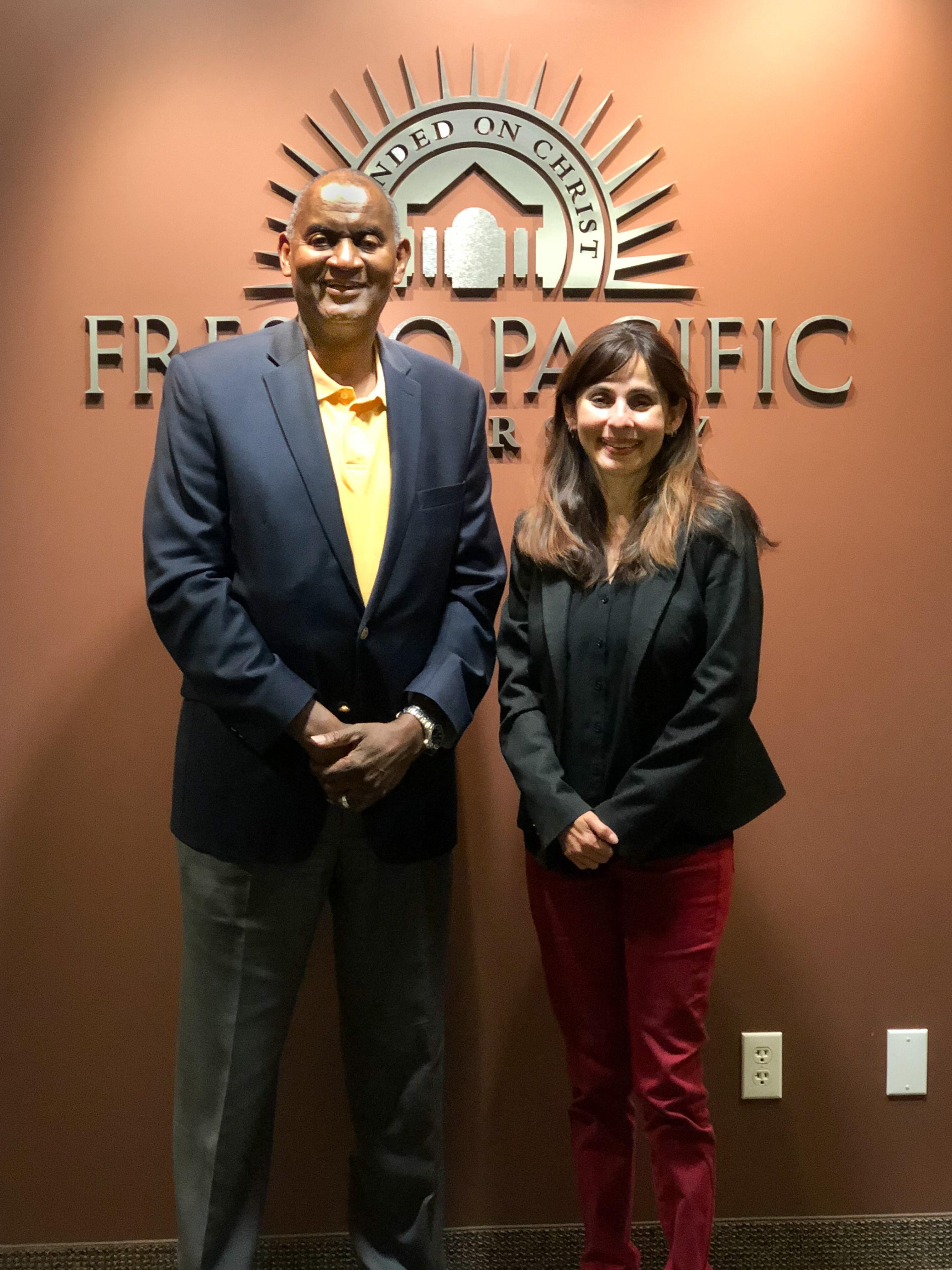 Sonya Christian and FPU President Joseph Jones
