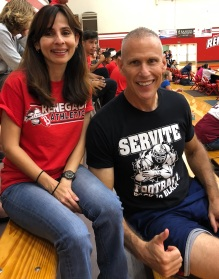 Sonya Christian and Stig Jantz Oct 5 2018 at Volleyball