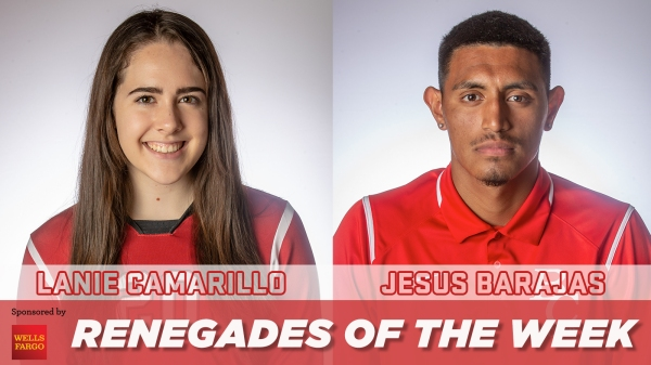 Lanie Camarillo and Jesus Barjas Renegades of the week
