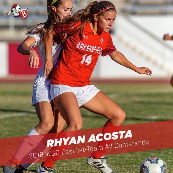 Rhyan Acosta blocking an opposing team member