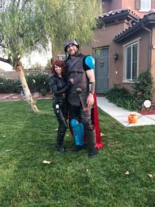 Jennifer Garrett and Matt GArrett Halloween 2018