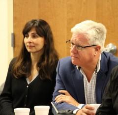 Sonya Christian, Senator Andy Vidak at Community Healthcare Initiative Oct 31 2018