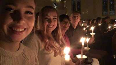 The Strobel Family attends Christmas services