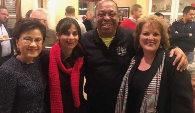 Friends and Supporters at the Abernathy Christmas Party