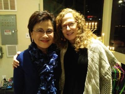 Mayor Karen Goh and Deborah Rosenthal