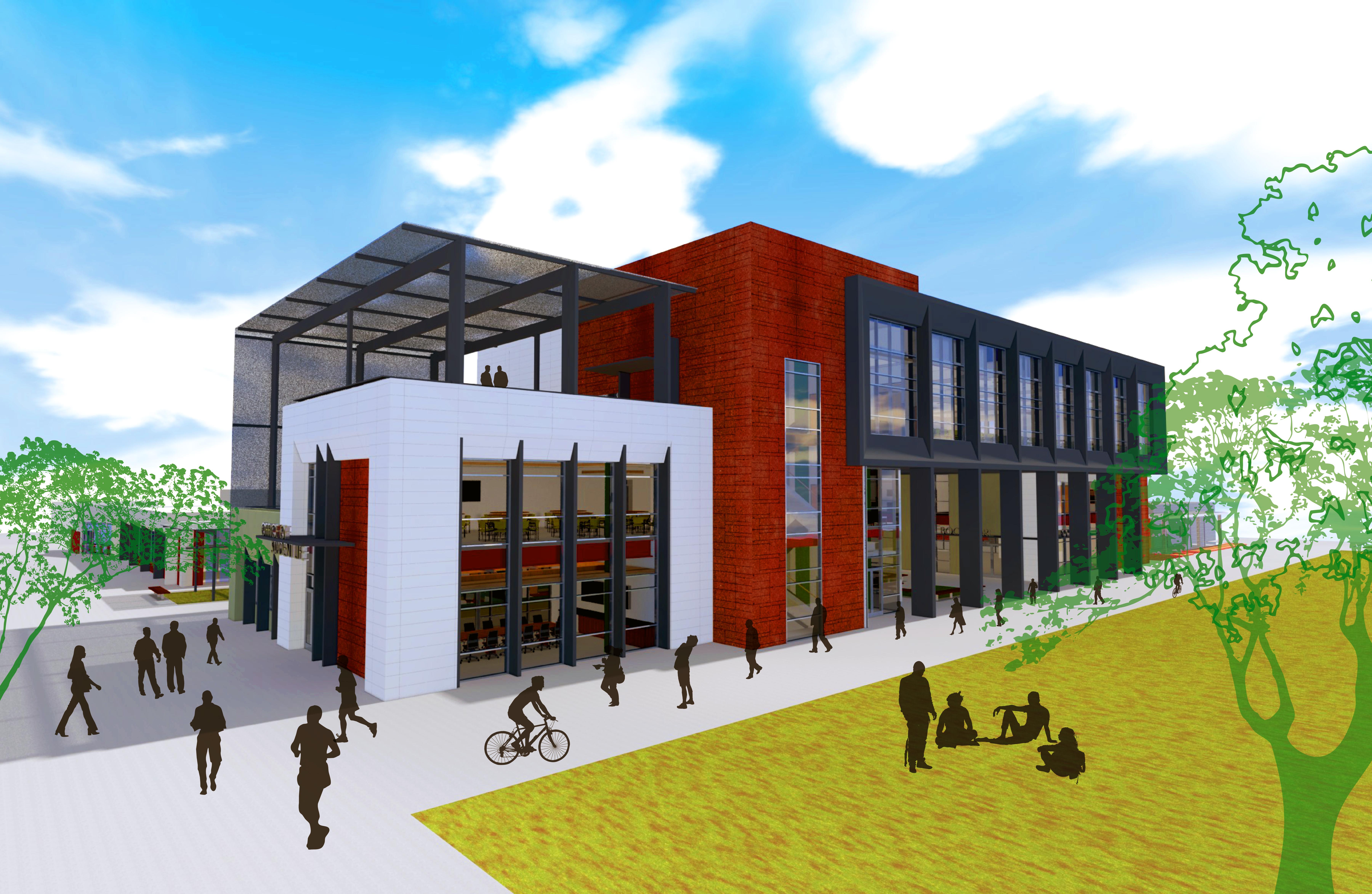 campus center rendering