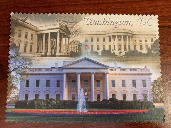 华盛顿,带白宫照片的华盛顿明信片