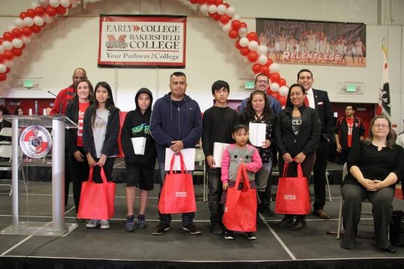 Early College raffle winners