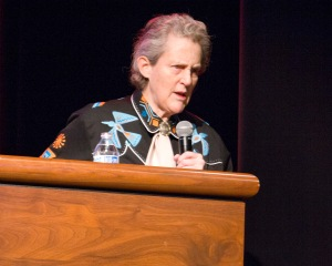 Temple Grandin at podium
