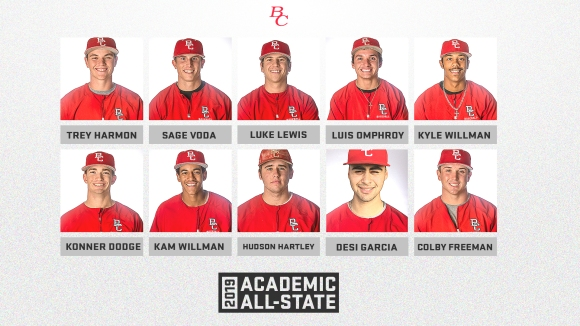 2019 CCCBCA Academic All State team