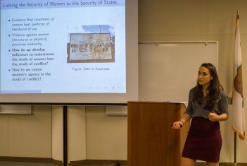Hilary Matfess speaks at BC's Levan Center