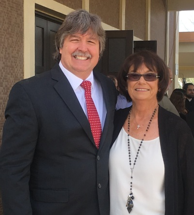 Steve Holmes and Trustee Kay Meek