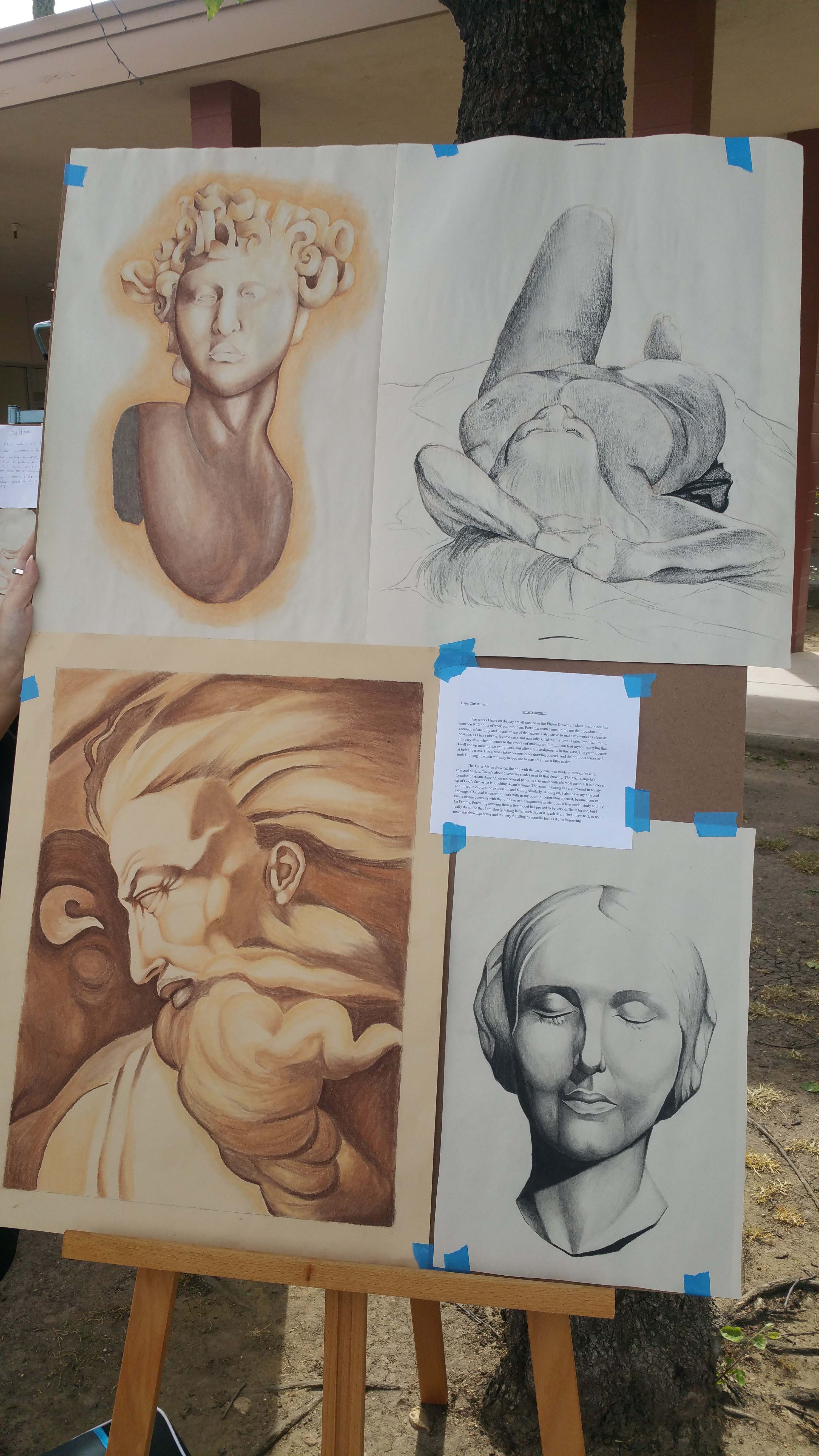 Art on display at the BC Spring Pop Up Art Show