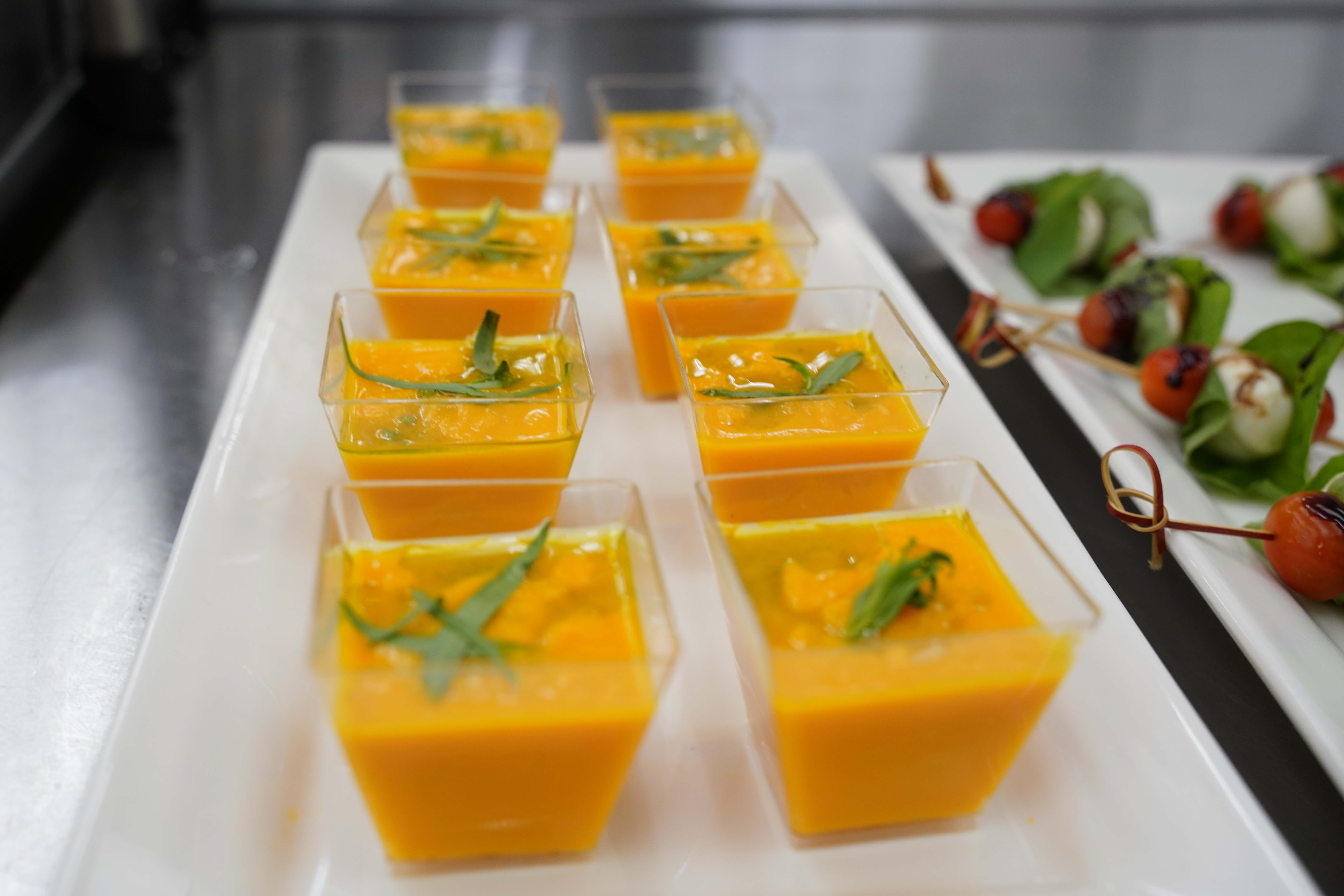 Soup prepared by BC Culinary Arts students